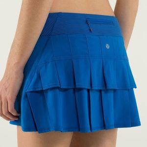 Lululemon Pace Setter Tennis Skirt Blue Sz 6 EUC